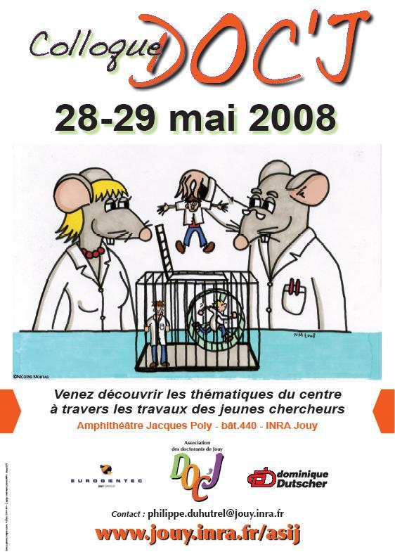 Affiche Colloque Doc'J 2008