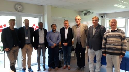 Photo (de gauche à droite) : MS Lund, B Guldbrandtsen, G Sahana (encadrant principal), M Uddin, CB Jorgensen (rapporteur), J Jensen (président), G Andersson (rapporteur), D Boichard