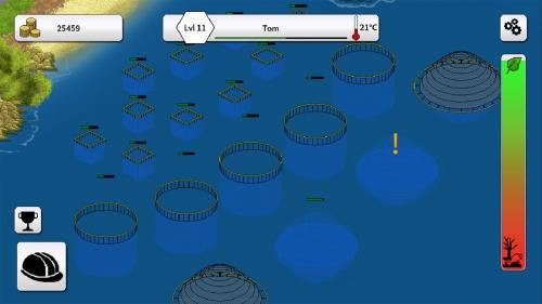 Aquakultor game for smartphone