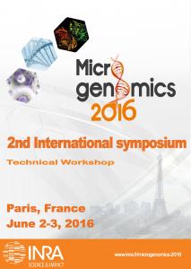 The 2nd International symposium on MICROGENOMICS 2016, June 2-3, Paris - Technical Workshop, May 31-June 1,INRA Jouy-en-Josas