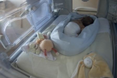 Service de néonatologie au CHU Hôtel-Dieu de Nantes, Hôpital Mère et Enfant. Les bébés prématurés y restent en couveuse jusqu'à la date théorique de leur naissance.