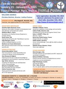Congrès du Club de Vaccinologie 2015